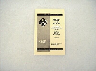 Air land sea multi service survival evasion recovery procedure reference guide