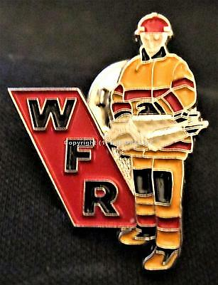 W F R WHOLESALE FIRE & RESCUE EQUIPMENT ALTA. CAN. FIREFIGHTING TOOLS Lapel Pin