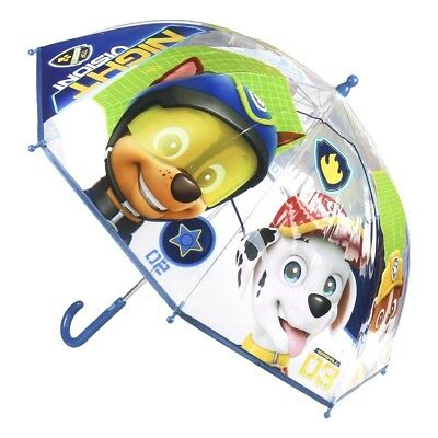PAW PATROL,Chase,Marshall,Rubble, Bubble Umbrella, BOYS, BLUE/TRANSPARENT,NEW!!!