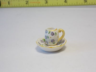 Dollhouse Miniatures Pitcher And Bowl For Washstand Dresser Counter Table 1:12