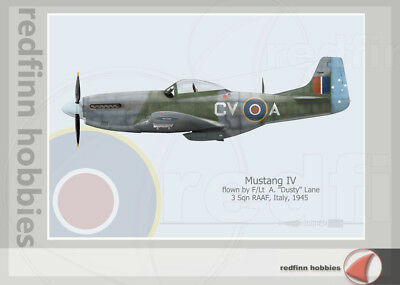 Warhead Illustrated Mustang IV 3 Sq RAAF CV A Aircraft Print