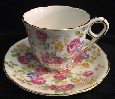 Royal Stafford - June Roses Demi Cup & Saucer