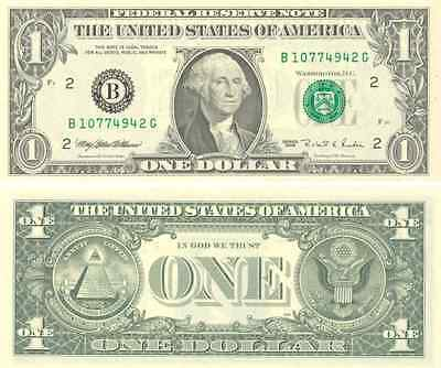 1 billet américain (USA) de 1 DOLLAR- one US DOLLAR