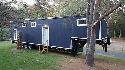 Tiny Home on a gooseneck mobile house trailer - a/c - heat - FREE DELIVERY