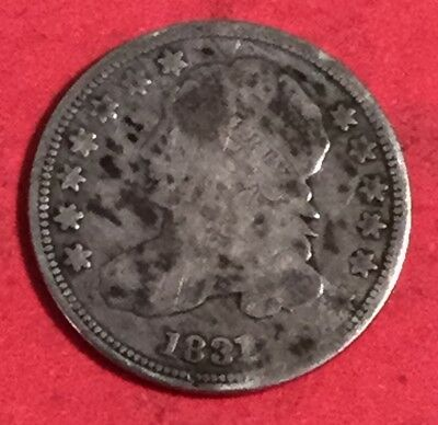 1831 US Capped Bust SILVER Dime! Old US Coins!