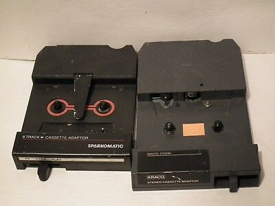 2 8-Track Cassette Adapters: Sparkomatic Sca-10 Kraco Kca-7  *video Demo Tested*