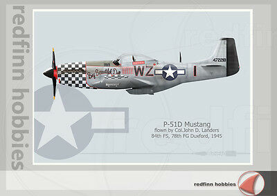 Warhead Illustrated P-51D Mustang Big Beautiful Doll Aircraft Print