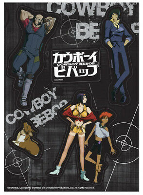 **Legit** Cowboy Bebop Spike Faya Ed Ein Jet Group Authentic Sticker Set #55626