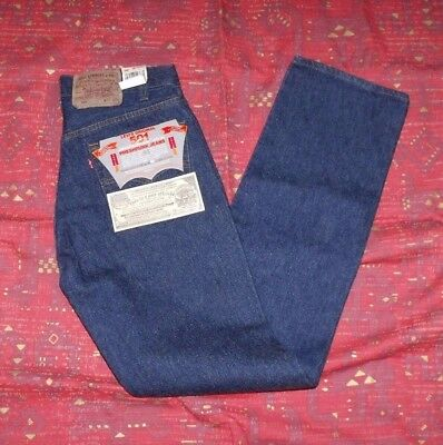 VTG Deadstock Levis 501 SIZE 30x33 Made in USA Dark Wash Pre-Shrunk