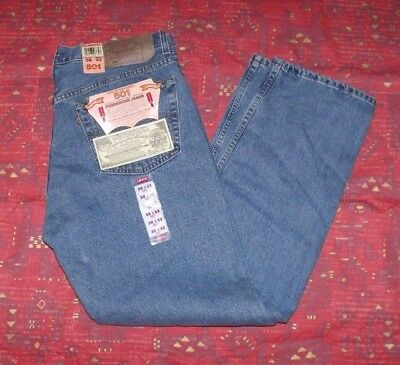 VTG Deadstock Levis 501 SIZE 38x32 Medium Wash Made in USA