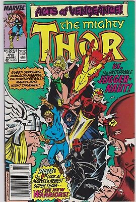 The Mighty Thor # 412 Key 1St Full New Warriors Vf/nm
