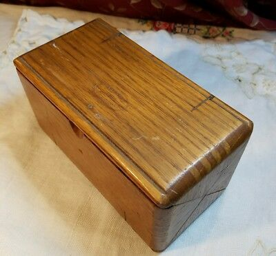 Antique Wooden Singer Puzzle Box Patented 1B89 Feb 1919