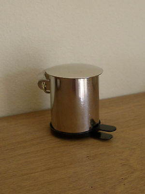 Dollshouse Miniature   ~ STAINLESS STEEL ~ Pedal Bin
