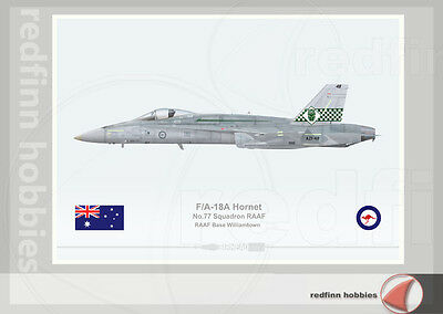 Warhead Illustrated F/A-18A Hornet RAAF 77Sqn Avalon 2007 Aircraft Print