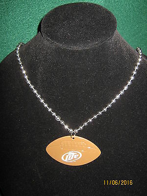 Miller Lite Mardi Gras NFL Football Beer Beaded Necklace