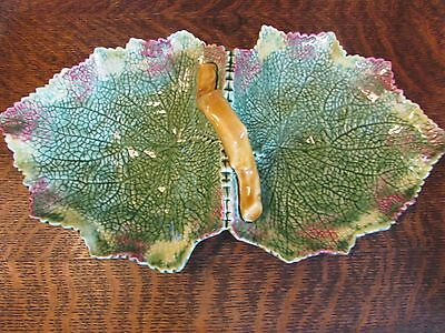 Bordallo Pinneiro Leaf Divided Relish Tray With Handle