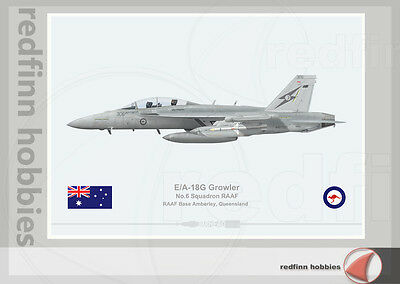 Warhead Illustrated E/A-18G Growler 6 Sq RAAF 306 Aircraft Print