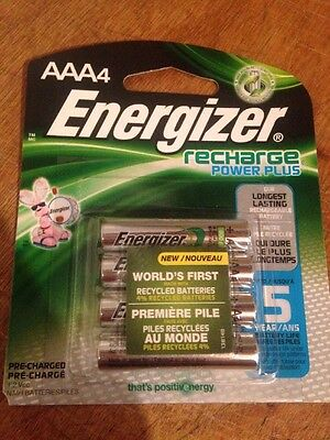 4 x Energizer NH12BP-4 AAA 800 mAh Rechargeable Batteries