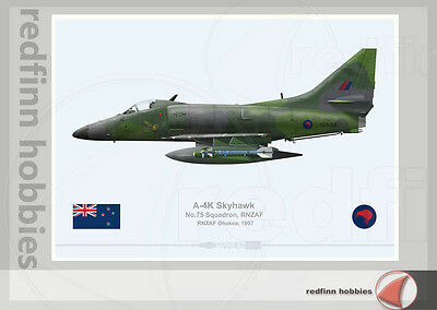 Warhead Illustrated A-4K Skyhawk 75 Sqn RNZAF 6212 Aircraft Print