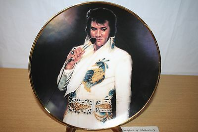 """""""Tenderly"""" Elvis Remembered Collector Plate 10-1/4"""" in Original Box & COA"""