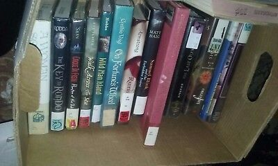 Book Lot Medium Flat Rate Box Full of Books, Mostly YA Young Adult or Children's