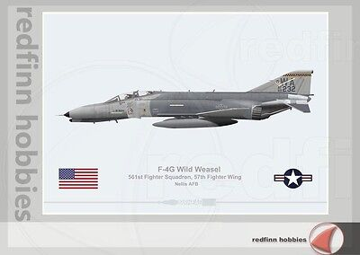 Warhead Illustrated F-4G Wild Weasel 561st FS Aircraft Print