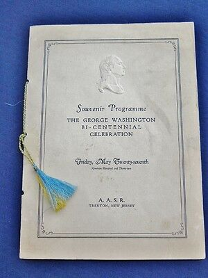 1932 Masonic Souvenir Washington BiCen ANCIENT ACCEPTED SCOTTISH RITE Trenton NJ