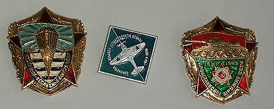 5 Russian Ussr Military Badge Medal Tank Pilot Airforce Airborne Paratrooper Pin