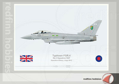 Warhead Illustrated Typhoon FGR.4 RAF 3Sqn Op. Ellamy  Aircraft Print