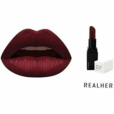 RealHer Woman Beauty Long lasting Moisturizing Lipstick, Wine