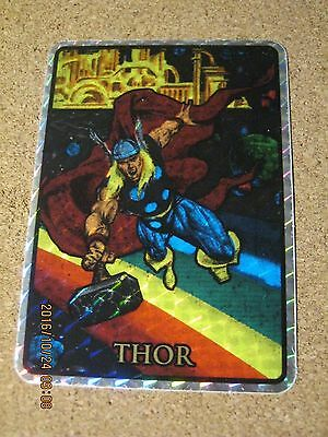 Marvel Masterpieces 1992 Prism Vending Sticker Thor - RARE