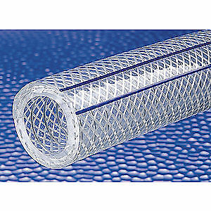 GRAINGER APPROVED Reinforced Tubing,225 psi at 70F,Clear, K7300-12X100