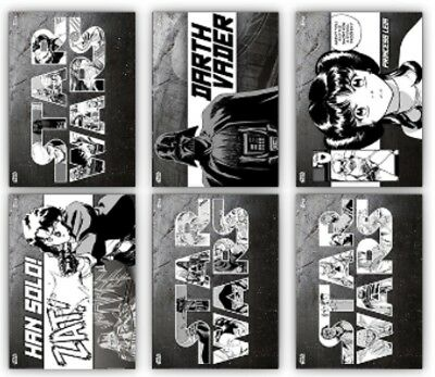 6 Card Set-Steel-Manga Series 2-Topps Star Wars Card Trader