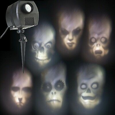 Outdoor Animated Skulls Projection Lightshow - NEW!!!