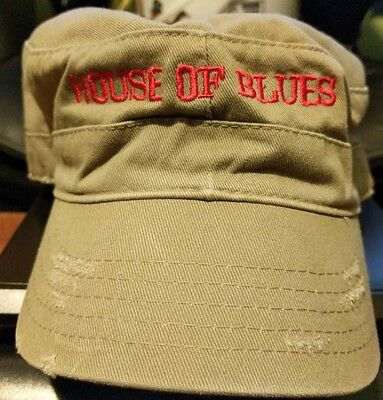 House of Blues Cadet hat New nwt Adjustable Embroidered