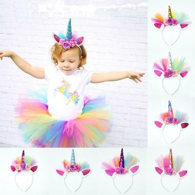 Fancy Magical Unicorn Horn Head Ute Hair Headband Dress Cosplay Decorative W94