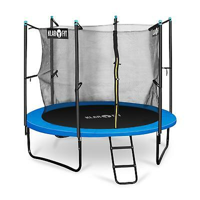 CHILDRENS 8FT HOME GARDEN TRAMPOLINE 150kg MAX RAIN COVER SAFETY NET GIFT IDEA