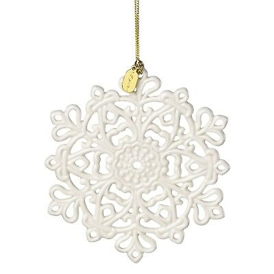 Lenox Annual China Ornaments 2017 Snow Fantasies Snowflake