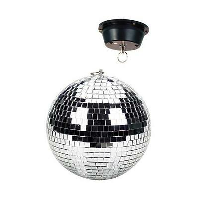 """8"""" Rotating Disco Ball Ceiling Mount Silver 1.5Rpm Motor Spinning Party Decor"""