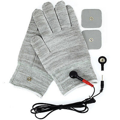 Electrosex Estim Massage Stimulation Gloves Electrotherapy Tens Set