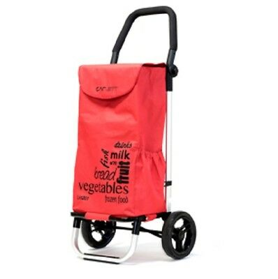 CARLETT Lett201 Designer Look Folding 2 Wheel Shopping Trolley with Adj Handle