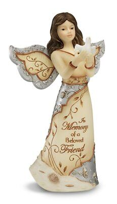Elements Beloved Friend Angel Figurine by Pavilion, 5-Inch, Holding Dove, in of