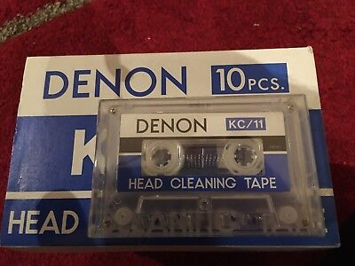 Denon KC-11 Head Cleaning Tape for Cassette tape Recorders ( RARE) Brand New
