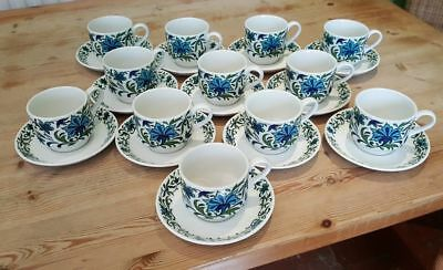 6 MIDWINTER SPANISH GARDEN CUPS & SAUCERS 60/70s JESSIE TAIT (2 sets available)
