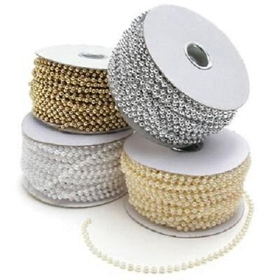 CK Products Cake Decoration Beads, On Roll, 20m Length, 4mm, Extra Shine, Silver