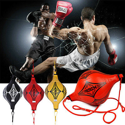PU Training Punching Bag Double End MMA Boxing Kick Floor to Ceiling Speed Ball