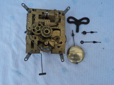 Vintage Fattorini & Sons 8 Day Bugler Alarm Clock Movement