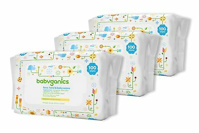 Babyganics Face Hand & Baby Wipes Fragrance Free 300 Count (Contains Three 10...