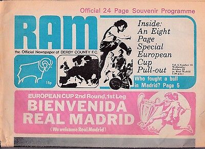 Derby County V Real Madrid European Cup 22/10/75