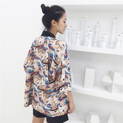 8-10 Womens Ladies Chinese Japanese Oriental Kimono Heavenly Cranes Top  ltop13 a74a31421